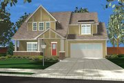 Tudor Style House Plan - 4 Beds 2.5 Baths 1827 Sq/Ft Plan #455-178 Exterior - Front Elevation