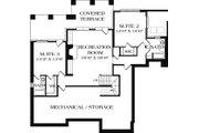 Craftsman Style House Plan - 3 Beds 3.5 Baths 3244 Sq/Ft Plan #453-12 Floor Plan - Lower Floor Plan