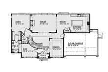 Craftsman Floor Plan - Main Floor Plan Plan #1066-20