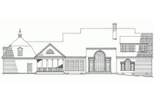 House Plan Design - Rear View - 4500 square foot Country home