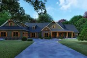 Craftsman Style House Plan - 4 Beds 4 Baths 5098 Sq/Ft Plan #923-121 Exterior - Front Elevation