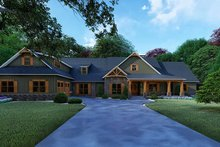 Craftsman Exterior - Front Elevation Plan #923-121