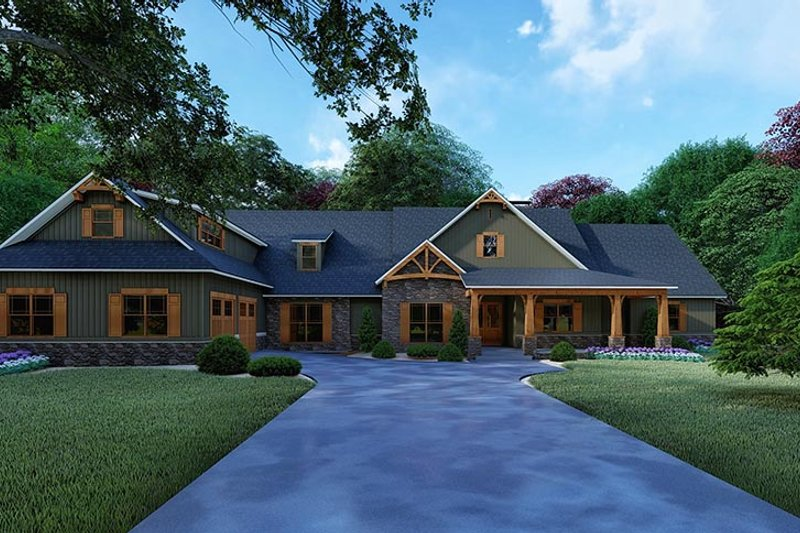 Dream House Plan - Craftsman Exterior - Front Elevation Plan #923-121