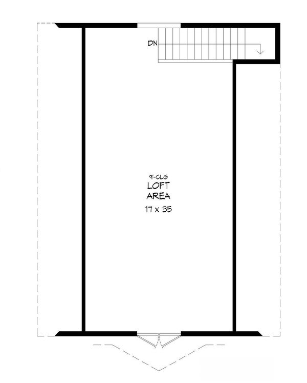 Farmhouse Floor Plan - Upper Floor Plan Plan #932-159