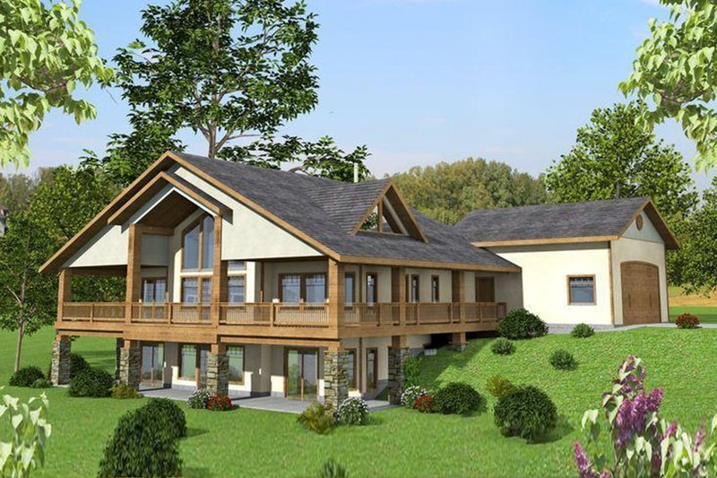 Architectural House Design - Ranch Exterior - Rear Elevation Plan #117-877