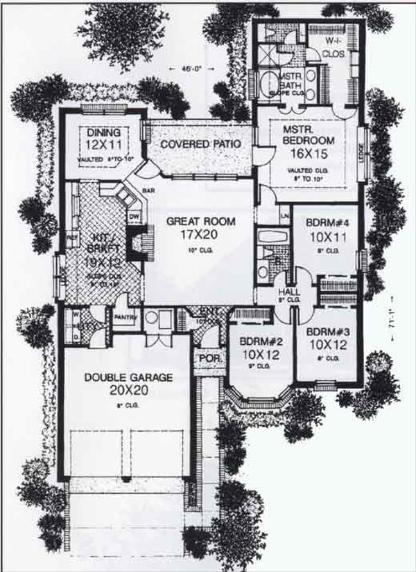 Colonial Floor Plan - Main Floor Plan #310-775