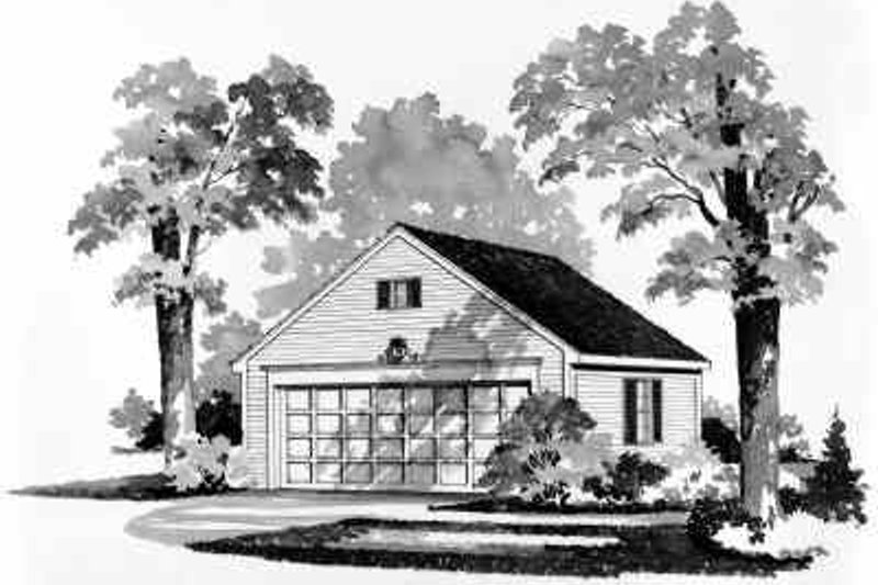 Colonial Exterior - Front Elevation Plan #72-237