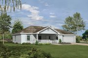 Ranch Style House Plan - 3 Beds 2 Baths 1260 Sq/Ft Plan #57-113 Exterior - Front Elevation