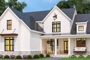 Dream House Plan - Farmhouse Exterior - Front Elevation Plan #119-433