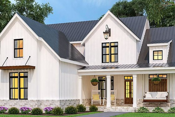Farmhouse Exterior - Front Elevation Plan #119-433