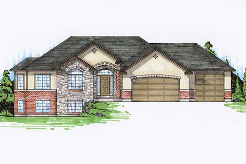 House Plan Design - Traditional Exterior - Front Elevation Plan #5-247