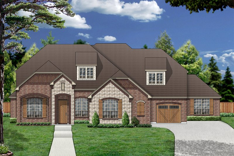 Dream House Plan - European Exterior - Front Elevation Plan #84-417