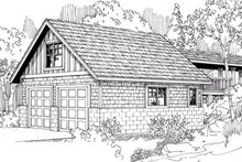 Home Plan - Traditional Exterior - Front Elevation Plan #124-639