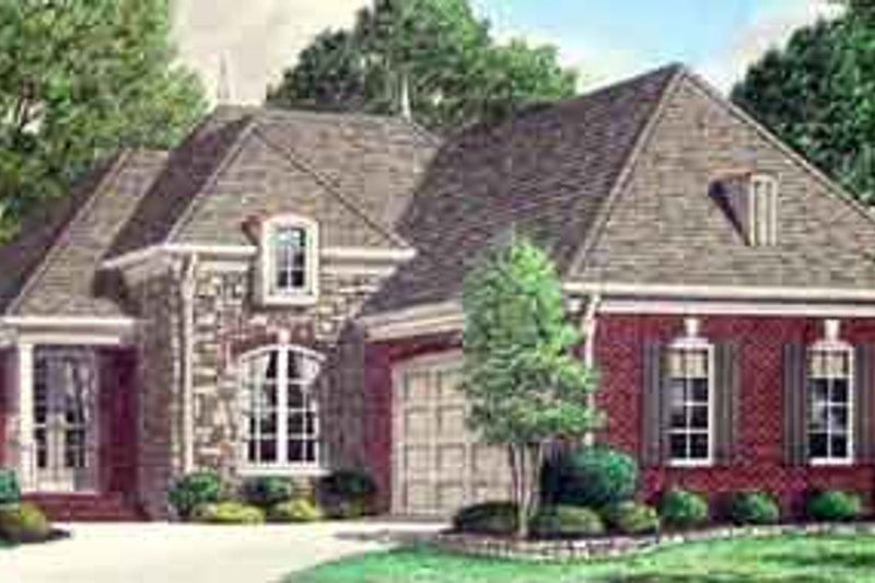 Southern Exterior - Front Elevation Plan #34-179