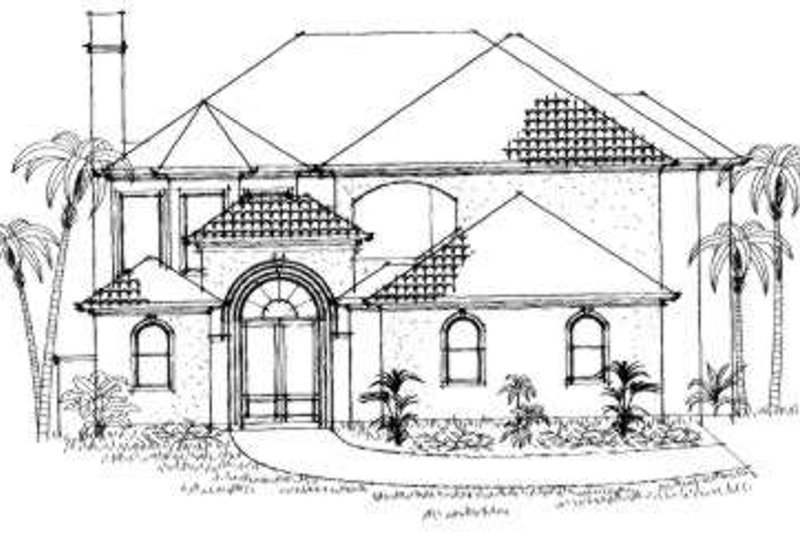 European Exterior - Front Elevation Plan #325-140