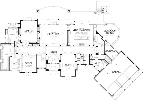 European Floor Plan - Main Floor Plan Plan #48-362