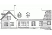 Country Exterior - Rear Elevation Plan #137-143