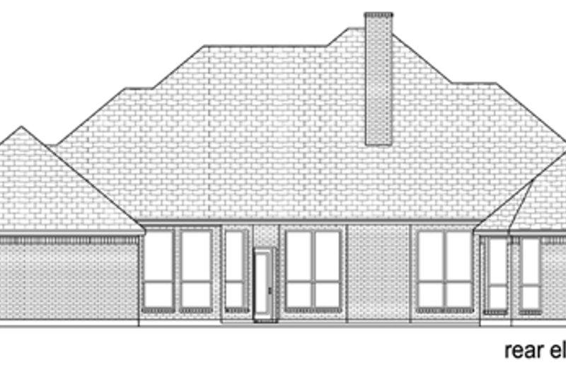 European Exterior - Rear Elevation Plan #84-506 - Houseplans.com