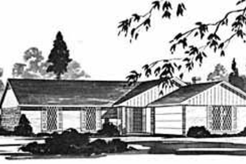 Ranch Exterior - Front Elevation Plan #36-373