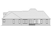House Plan Design - European Exterior - Rear Elevation Plan #21-363