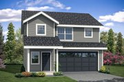 Traditional Style House Plan - 3 Beds 2.5 Baths 1628 Sq/Ft Plan #124-1097 Exterior - Front Elevation