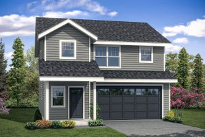 Architectural House Design - Traditional Exterior - Front Elevation Plan #124-1097