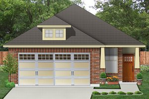 Architectural House Design - Craftsman Exterior - Front Elevation Plan #84-538