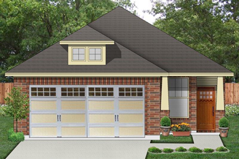 Architectural House Design - Craftsman Exterior - Front Elevation Plan #84-538