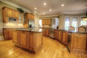 European Style House Plan - 4 Beds 4.5 Baths 4041 Sq/Ft Plan #119-182 Interior - Kitchen