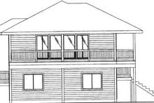 House Plan Design - Traditional Exterior - Rear Elevation Plan #117-347