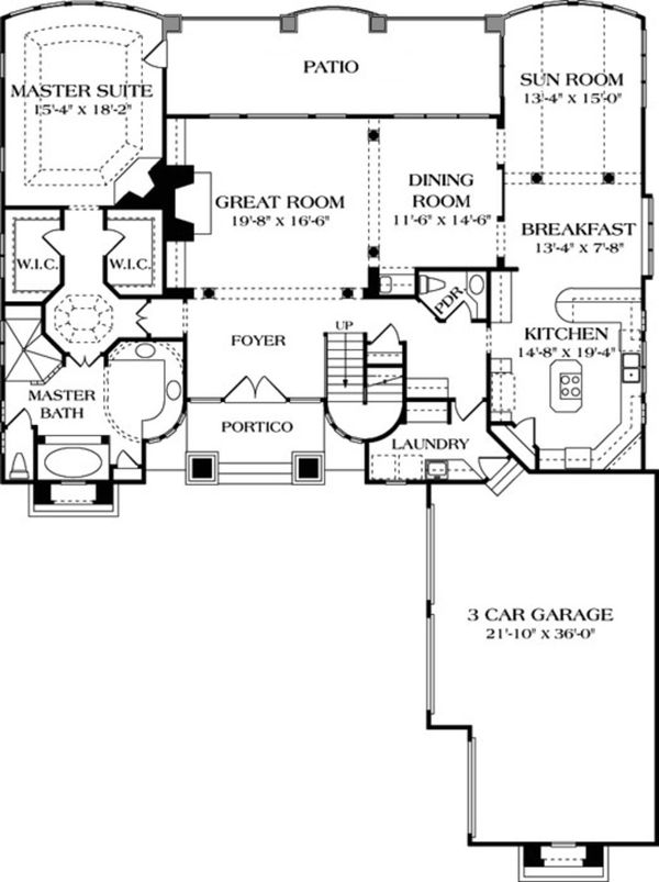 European Floor Plan - Main Floor Plan Plan #453-39