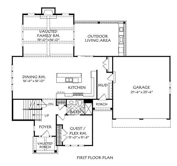 House Plan Design - Traditional Floor Plan - Main Floor Plan #927-1005