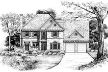 European Exterior - Front Elevation Plan #20-984