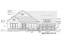Ranch Exterior - Front Elevation Plan #1058-166