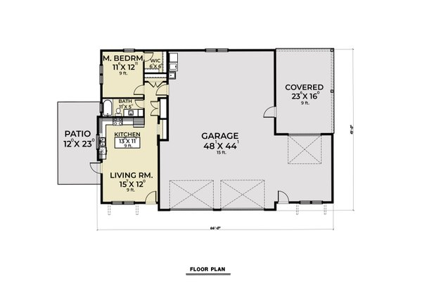 Dream House Plan - Farmhouse Floor Plan - Main Floor Plan #1070-121
