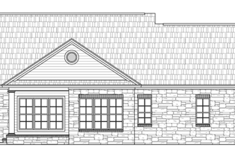Country Exterior - Rear Elevation Plan #21-226 - Houseplans.com