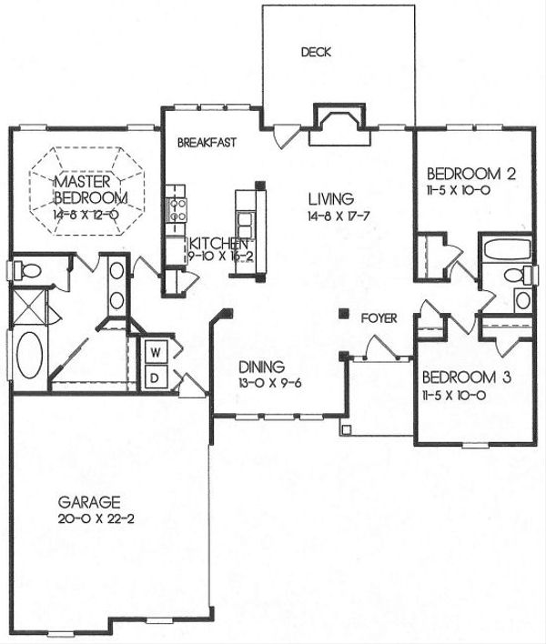 European Floor Plan - Main Floor Plan Plan #129-138