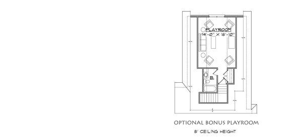 House Plan Design - Optional Bonus Playroom