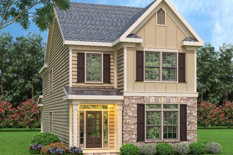 Dream House Plan - Craftsman Exterior - Front Elevation Plan #419-161