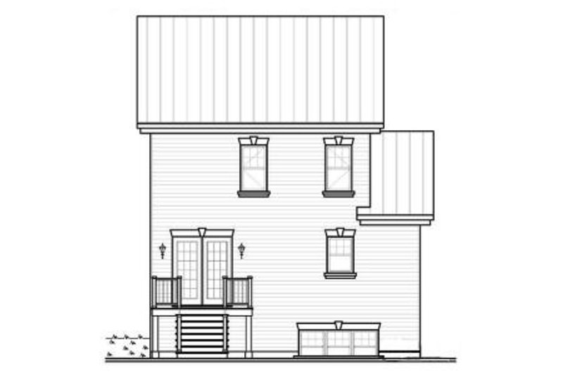 Country Exterior - Rear Elevation Plan #23-2182 - Houseplans.com