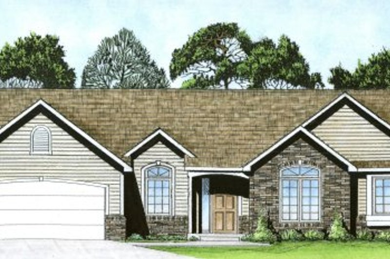 Dream House Plan - Ranch Exterior - Front Elevation Plan #58-190