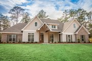Craftsman Style House Plan - 4 Beds 2.5 Baths 2641 Sq/Ft Plan #430-155 Exterior - Front Elevation
