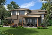 Contemporary Style House Plan - 3 Beds 3 Baths 2939 Sq/Ft Plan #48-707 Exterior - Rear Elevation