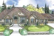 European Style House Plan - 4 Beds 4.5 Baths 4901 Sq/Ft Plan #124-600 Exterior - Front Elevation
