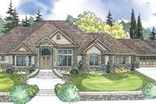 European Exterior - Front Elevation Plan #124-600