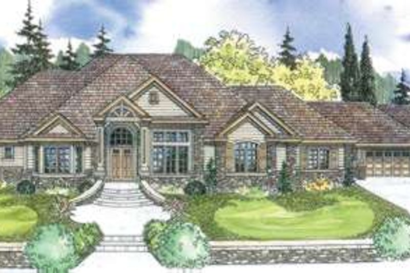 Dream House Plan - European Exterior - Front Elevation Plan #124-600