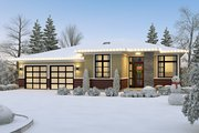 Contemporary Style House Plan - 4 Beds 2.5 Baths 2179 Sq/Ft Plan #48-1040