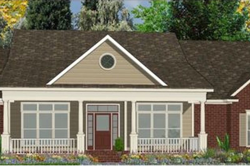 Traditional Style House Plan - 4 Beds 2.5 Baths 2499 Sq/Ft Plan #63-179 Exterior - Front Elevation
