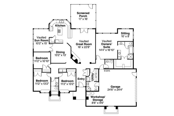 Traditional Floor Plan - Main Floor Plan Plan #124-184