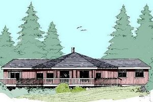 Modern Exterior - Front Elevation Plan #60-390